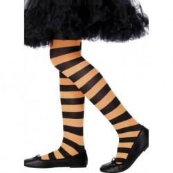 Tights, Orange & Black, Age 6-12