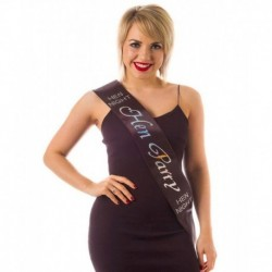 "Sash ""Hen Party"" Black/Silver"